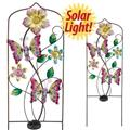 Regal Art Gifts Solar Butterfly Trellis Assortment w Bubble Bodies Garden Yard