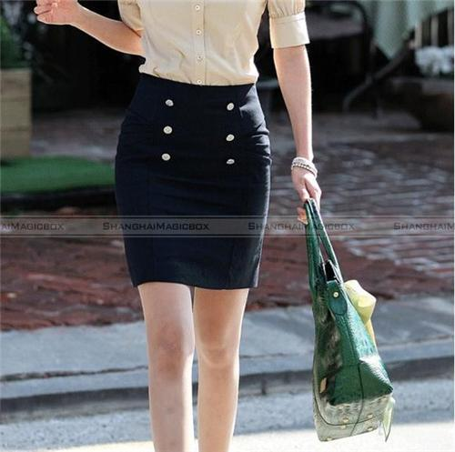 Women Fashion Sweet Formal OL Slim Fit Short Hot Skirt Black New ...