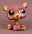 Littlest Pet Shop #1602 Plum Purple Bear With Brown Eyes, Singles, 2007 Hasbro