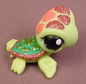 littlest pet shop 2149 light green sea turtle with