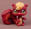 Littlest Pet Shop #1233 Plum Or Dark Purple Squirrel With Green Eyes, Pink Tattoo Patterns