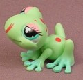 Littlest Pet Shop #1214 Blemished Light Green Tree Frog With Red Spots & Tongue