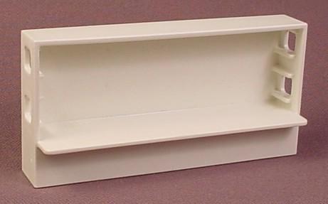 playmobil white low wide shelf unit with 1 shelf 4343. Black Bedroom Furniture Sets. Home Design Ideas