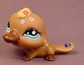 Littlest Pet Shop #1395 Brown Platypus With Aqua Blue Eyes, Dark Brown Bill, Mail Order Pet