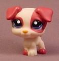 Littlest Pet Shop #1200 Reddish Brown & Tan Or Cream Puppy Dog With Dark Blue Eyes