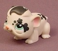 Littlest Pet Shop #1394 Tan & Black Guinea Pig With Green Eyes, Flowers & Stars Tattoo
