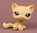 Littlest Pet Shop #1005 Cream Or Light Yellow Shorthair Kitty Cat Kitten With Light Blue Eyes, 2006