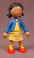 Caillou Articulated Clementine Figure With Cloth Skirt, 3 1/2 Inches Tall, Cinar 2002 Irwin