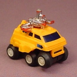 Voltron Vintage 1985 Moon Patrol Orange Space Vehicle With Friction Motor, 2 1/8 Inches