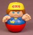 Weebles Man With 4X4 Yellow Hat, 1987 Playskool