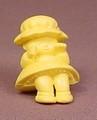Cutie Doll Yellow PVC Figure, C.U.T.I.E., Bitsy Babies, Vintage, 1986 Mattel