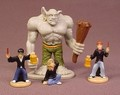 Harry Potter Set Of 4 Mini PVC Figures, The Troll Or Giant Is 2 Inches Tall, Ron Hermione