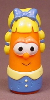Veggie Tales Laura Carrot With Blue Bow From A Jonah Figure Pack, 3 Inches Tall, 2002