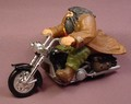 Harry Potter Solid PVC Hagrid Figure On A Diecast Metal The Flying Motorcycle, 5 Inches Long