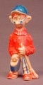 Howdy Doody Dilly Dally Hippy Vintage Figure Toy, 4 Inches Tall, Teevee, Tee Vee