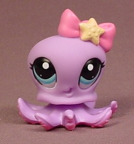 Bildresultat för pet shop purple octopus with pink and yellow bow