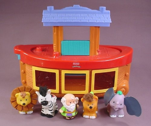 Fisher Price Little People 2005 Noah S Ark Boat Set With 4
