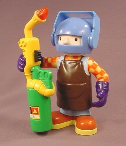 Bob The Builder Action Welder Figure With A Light Up Torch, The Helmet Visor Moves Up & Down