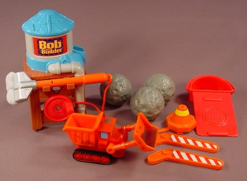 Bob The Builder Lot Of Replacement Parts For A Fix N' Clean Roadway Playset #6138, 2005 Hasbro