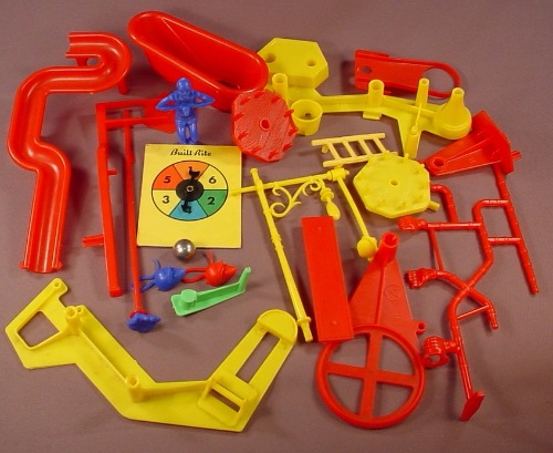 Mouse Trap Lot Of Replacement Parts For The Vintage 1963 First Edition  Board Game, 1963 Ideal