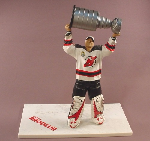 ba00f3652 NHL Hockey Martin Brodeur New Jersey Devils Goalie Figure With The Stanley  Cup