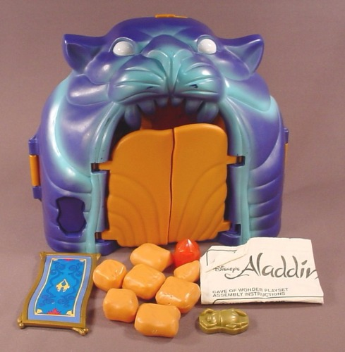 Disney Aladdin Cave Of Wonders Playset #5308, It Is Complete With The Rocks, Jewel, Scarab & Carpet