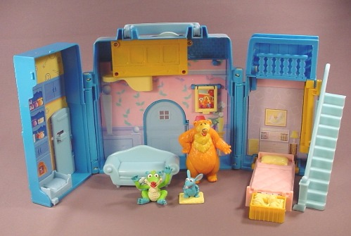 Bear In The Big Blue House Playset With Bear Treelo & Tutter Figures, Has The Couch, Jim Henson