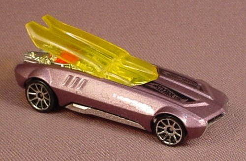 hot wheels 2002 whip creamer ii, purple with yellow window, 2003