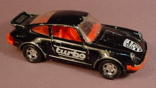 Matchbox 1979 Super Kings K 70 Porsche Turbo Black With Red Interior The Doors And Trunk Open Rons Rescued Treasures