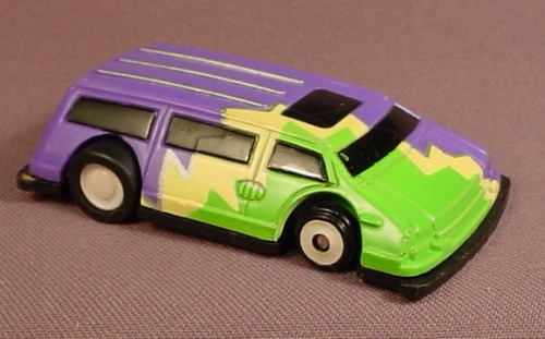 Artin 1992 Flat Sters Flatsters Die Cast Meteal Car, Super Fast Racer With The Squashed Look