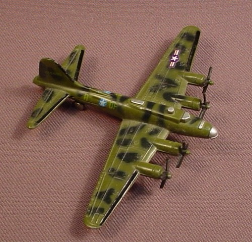 B17 Memphis Belle Bomber Airplane, Military Aircraft, Die Cast Metal, Diecast, 3 Inches Long