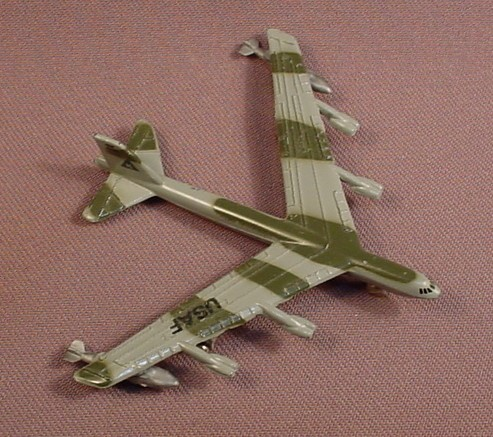 B52 Stratofortress Jet Airplane, Military Aircraft, Die Cast Metal, Diecast, 3 Inches Long