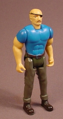 A-Team Python Action Figure, 3 3/4 Inches Tall, Blue Shirt Variation, From The Bad Guys 4 Pack, 1984