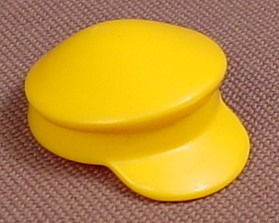 Playmobil Yellow Soft Hat With A Small Brim On The Front, 3135, 30 24 1720