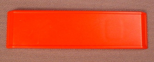 Playmobil Red Sign With Bevelled Edges, 3 1/2 Inches Long, 2 System X Sockets On The Back, 3218 3254