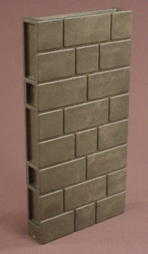 Playmobil Dark Gray Brickwork Or Castle Wall, 2 3/8 By 4 3/8 Inches, Grey, 3269 5757 5921 7759 7760