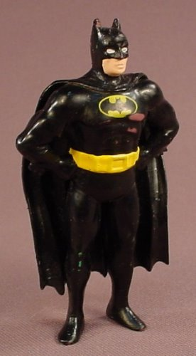 Batman PVC Figure With A Flexible Cape, 3 1/2 Inches Tall, DC Comics, 1989 Applause