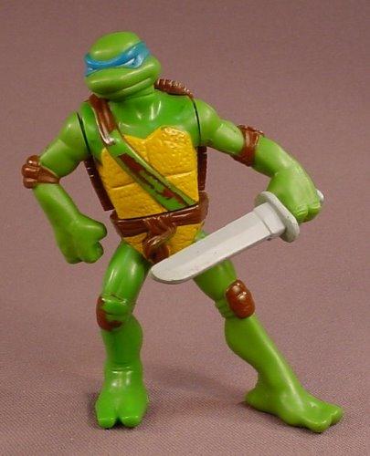 Tmnt Leonardo Action Figure With Sword Squeeze The Legs To The