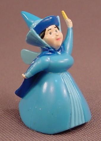 Disney Sleeping Beauty Merryweather Fairy PVC Figure, 1 5/8 Inches Tall, Figurine