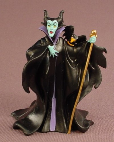 Disney Sleeping Beauty Maleficent Villain PVC Figure, 3 1/4 Inches Tall, Figurine
