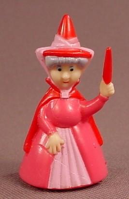 Disney Sleeping Beauty Flora Fairy PVC Figure, 1 3/4 Inches Tall, Figurine