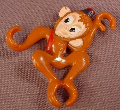 Disney Aladdin Abu The Monkey Spoon Rider Or Bowl Sitter PVC Figure, 3 Inches Tall