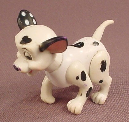 Disney 101 Dalmatians Domino Puppy Dog Figure, 1 5/8 Inches Tall, The Head & Legs Move, Figurine