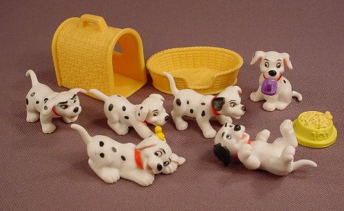 Disney 101 Dalmatians 9 Piece Set Of Puppies PVC Figures & Accessories