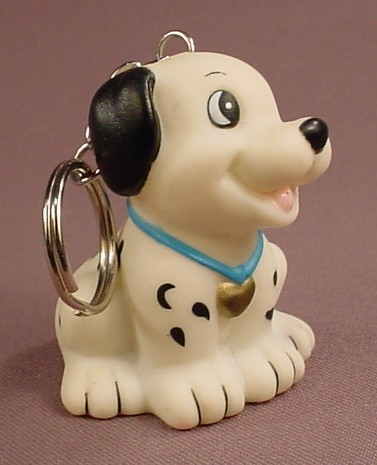 Disney 101 Dalmatians Vinyl Puppy Keychain With A Pencil Sharpener In The Base, 2 1/2 Inches Tall