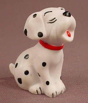 Disney 101 Dalmatians Puppy Howling Or Singing PVC Figure, 1 3/4 Inches Tall, Figurine