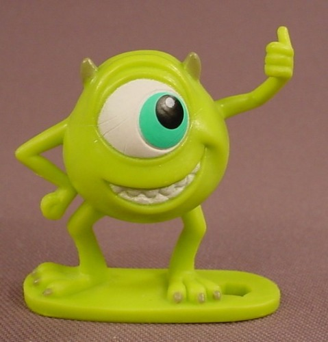 Disney Monsters Inc Mike Wazowski With Thumb Up PVC Figure On A Base, 2 Inches Tall, 2012