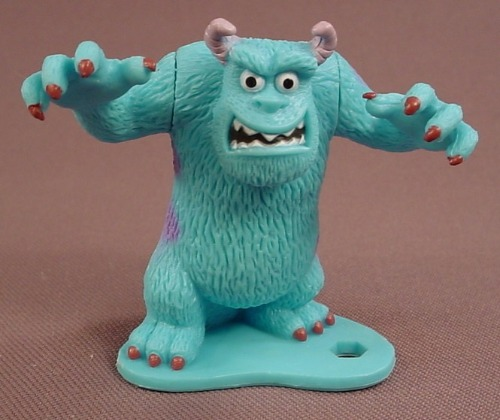 Disney Monsters Inc Sully In A Scaring Pose PVC Figure On A Base, 2 3/8 Inches Tall, 2012