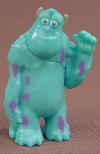 Disney Monsters Inc Sully Hard Plastic Figure, 2 Inches Tall, Figurine