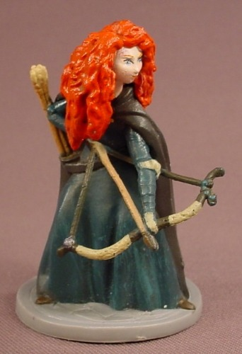 Disney Brave Princess Merida With A Bow & Arrow PVC Figure On A Round Base, 2 7/8 Inches Tall